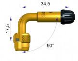 Латунный изогнутый жесткий удлинитель  R-1197-3